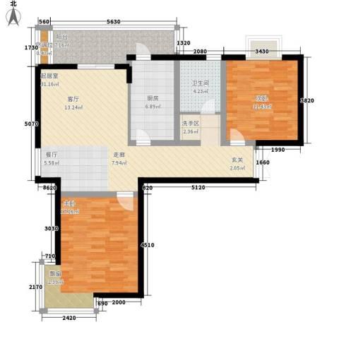 好世鹿鸣苑2室0厅1卫1厨113.00㎡户型图