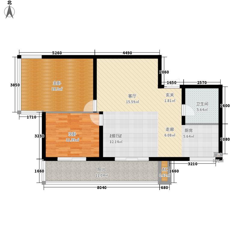 天谛公寓98.62㎡面积9862m户型