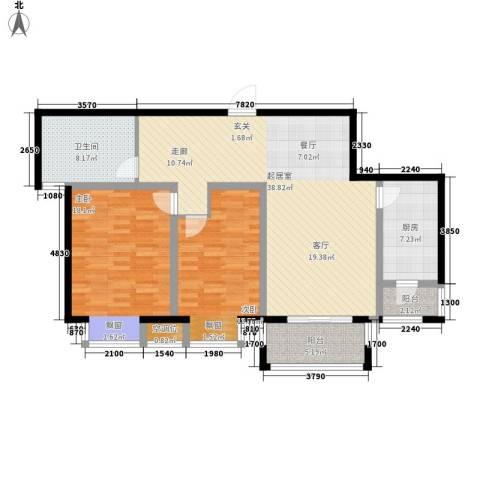 好世鹿鸣苑2室0厅1卫1厨102.00㎡户型图