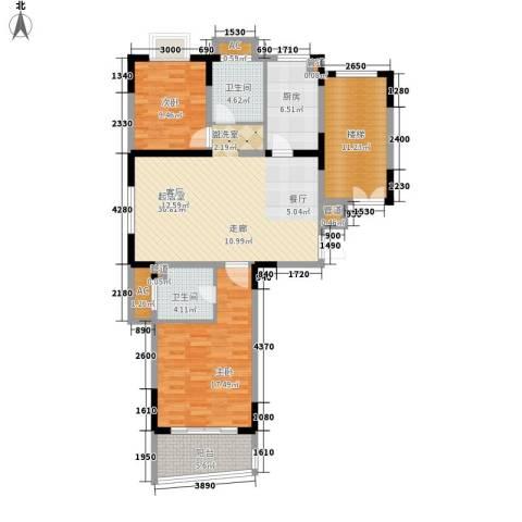 颐泽苑2室0厅2卫1厨133.00㎡户型图