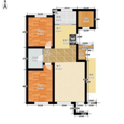 亨林名都2室1厅1卫1厨99.00㎡户型图