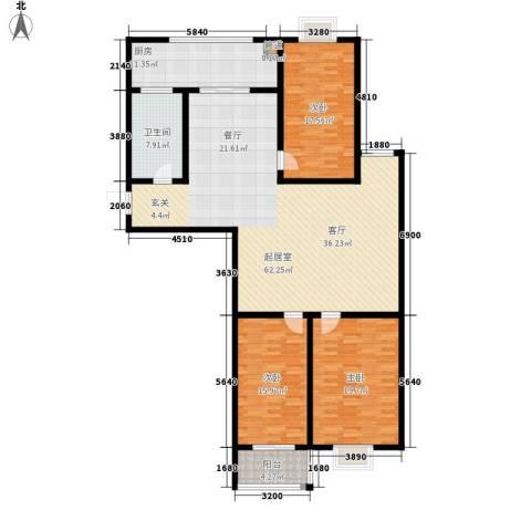 楚天书香门第3室0厅1卫1厨155.00㎡户型图