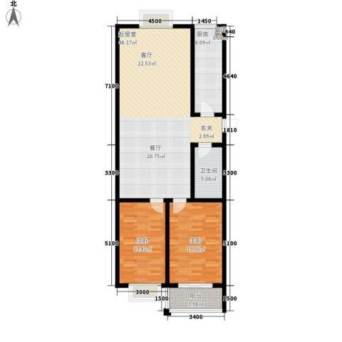楚天书香门第2室0厅1卫1厨132.00㎡户型图