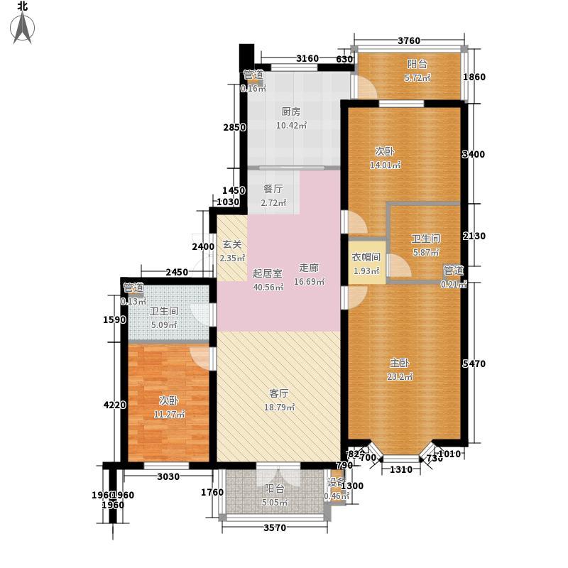 远大都市绿洲165.00㎡远大都市绿洲户型图3室2厅2卫1厨户型10室