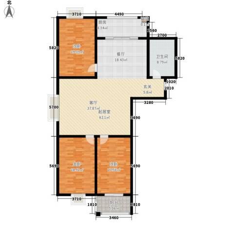 楚天书香门第3室0厅1卫1厨157.00㎡户型图