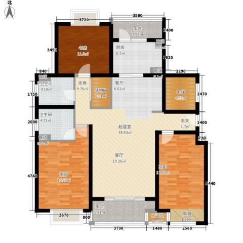 品家都市星城一期3室0厅2卫1厨136.00㎡户型图