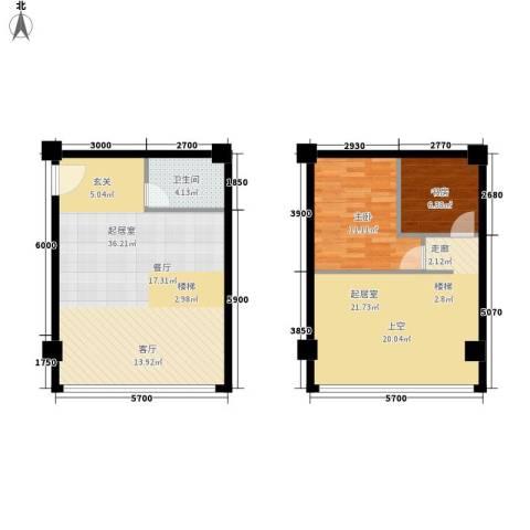陕西省疾控中心家属院2室0厅1卫0厨110.00㎡户型图