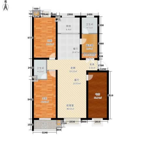 润生园3室0厅2卫1厨139.00㎡户型图