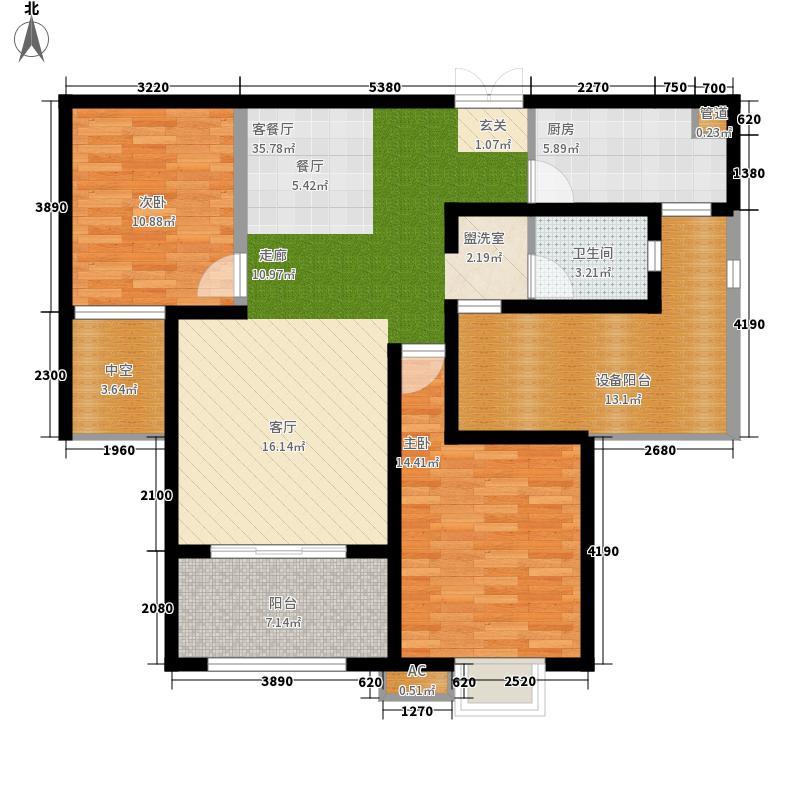 中环城103.00㎡中环城户型图B1户型2室2厅1卫1厨户型2室2厅1卫1厨