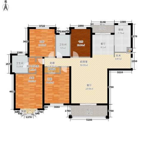 曹路家苑4室0厅2卫1厨160.00㎡户型图