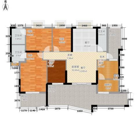 翠景湾4室0厅3卫1厨154.83㎡户型图