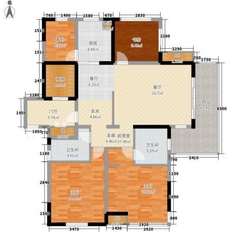 恒熙湖庭4室0厅2卫1厨144.00㎡户型图