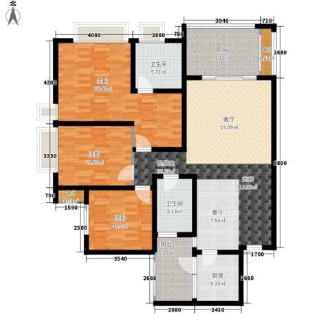 协信彩云湖3室0厅2卫1厨135.00㎡户型图