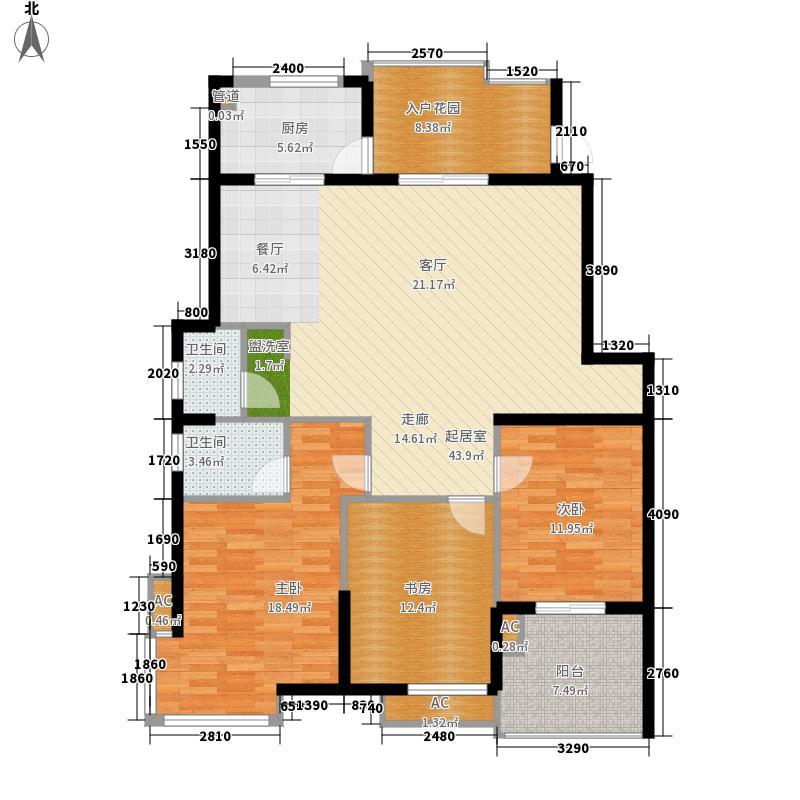 枫丹白鹭138.18㎡枫丹白鹭户型图3室2厅2卫户型10室