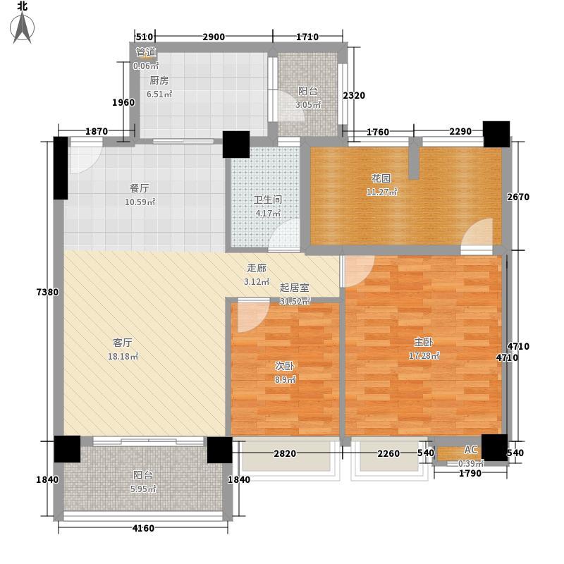 宝峰华庭101.74㎡宝峰华庭户型图2室2厅户型图2室2厅1卫1厨户型2室2厅1卫1厨