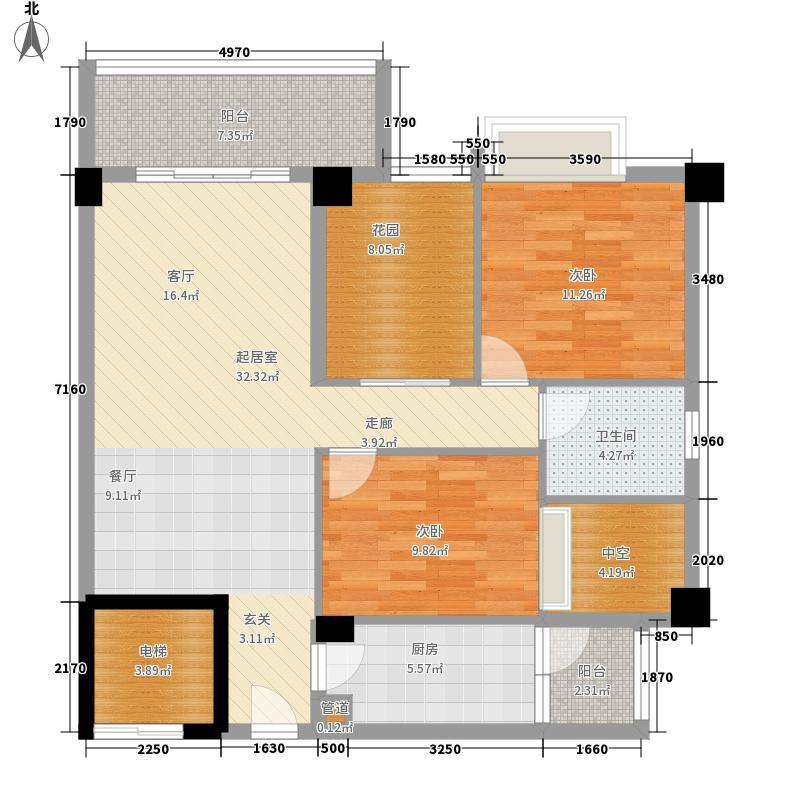 宝峰华庭102.32㎡宝峰华庭户型图2室2厅户型图2室2厅1卫1厨户型2室2厅1卫1厨