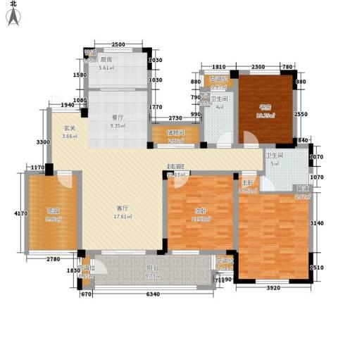 新城忆华里3室0厅2卫1厨144.00㎡户型图