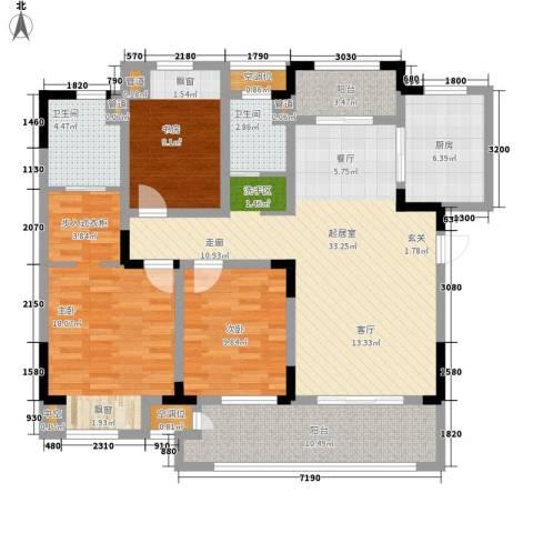 新城忆华里3室0厅2卫1厨118.00㎡户型图