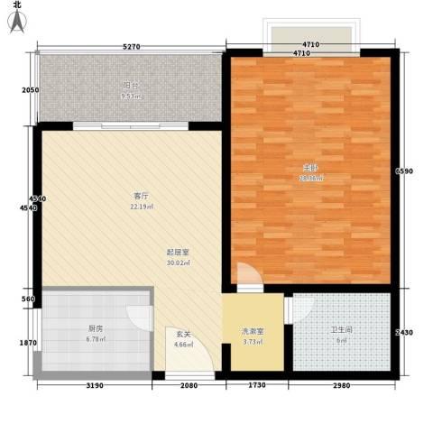 九杨新村1室0厅1卫1厨90.00㎡户型图