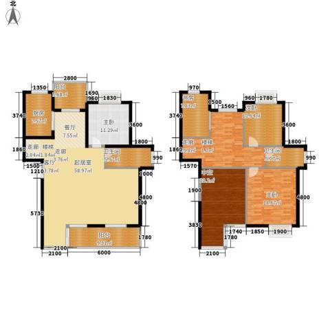 碧水云天4室0厅2卫1厨251.00㎡户型图