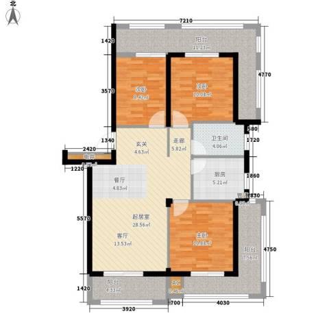 恒联锦园3室0厅1卫1厨106.00㎡户型图