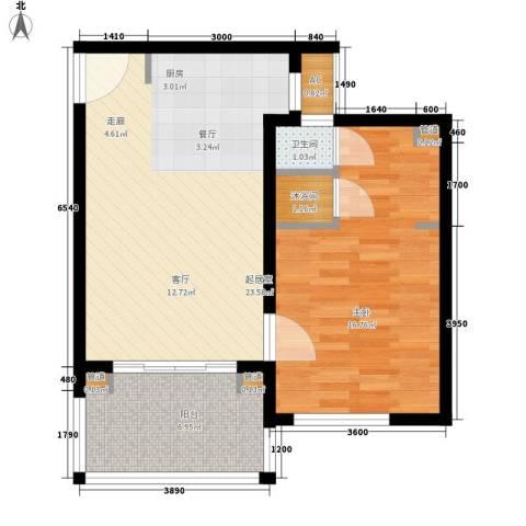 石梅山庄1室0厅1卫0厨57.00㎡户型图