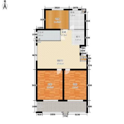 盛唐世家3室1厅1卫1厨128.00㎡户型图