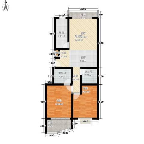 新东方花园2室0厅2卫1厨90.89㎡户型图