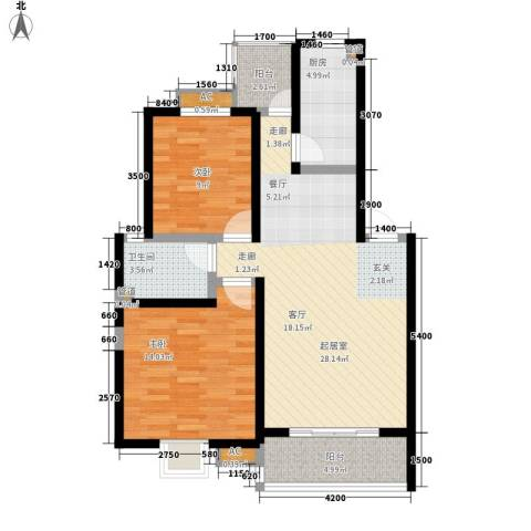 幸福大街2室0厅1卫1厨84.00㎡户型图