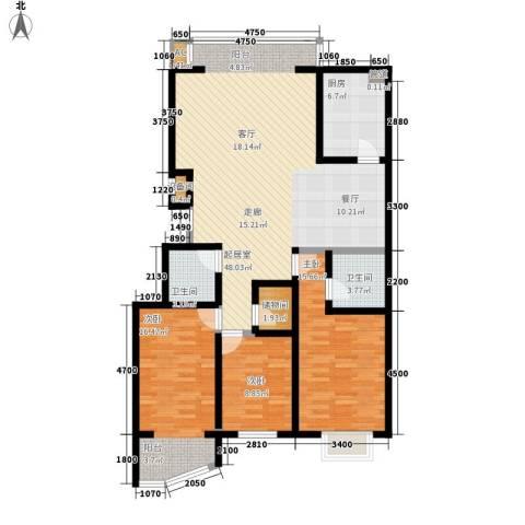 新东方花园3室0厅2卫1厨121.18㎡户型图