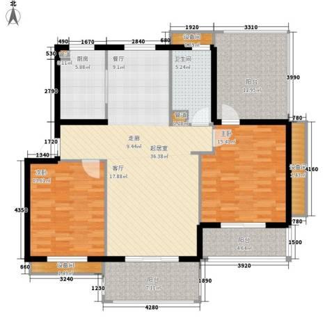 南岸花园2室0厅1卫1厨105.43㎡户型图