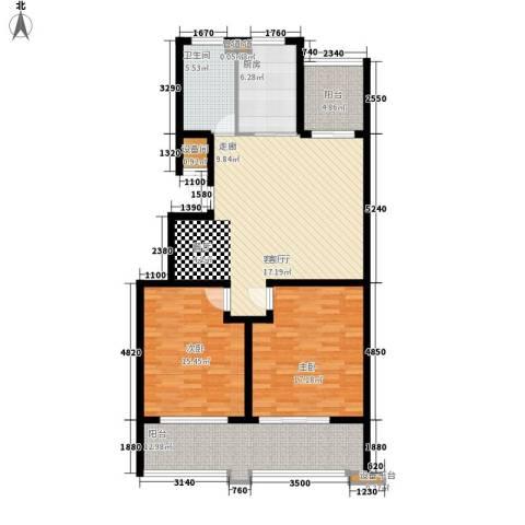 盛唐世家2室1厅1卫1厨109.00㎡户型图