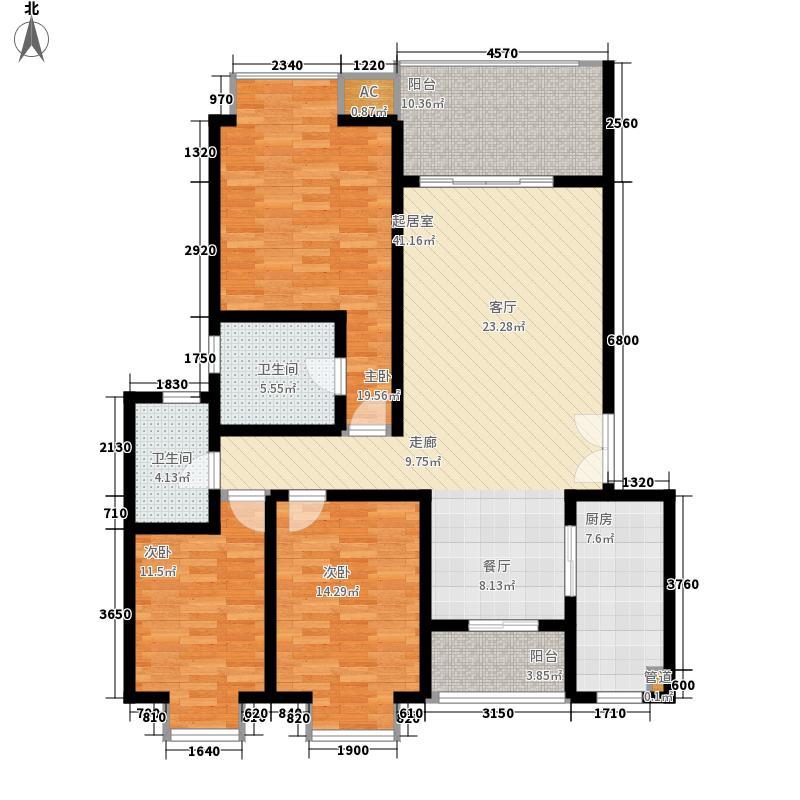 大兴星城136.00㎡大兴星城户型图B郡比利华23室2厅2卫1厨户型3室2厅2卫1厨