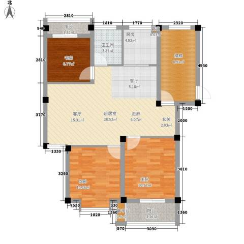 山水人家3室0厅1卫1厨112.00㎡户型图