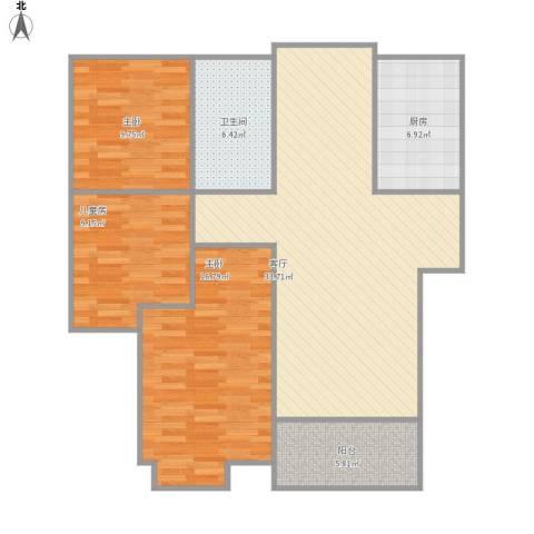 常熟老街同德坊3室1厅1卫1厨119.00㎡户型图