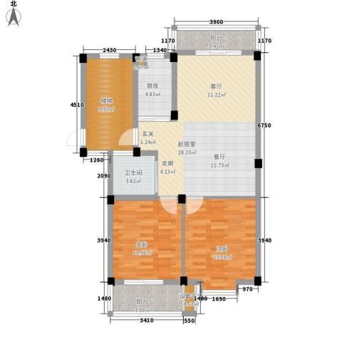 山水人家2室0厅1卫1厨112.00㎡户型图
