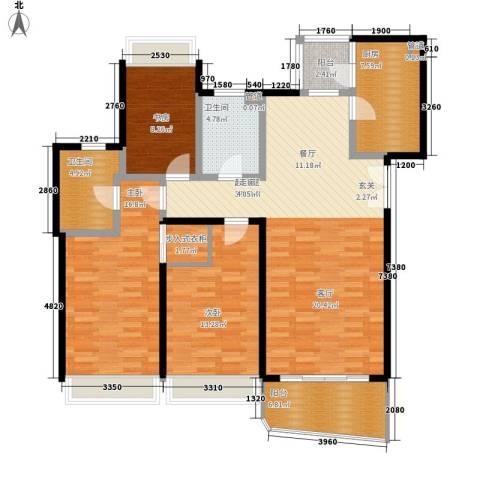 国际中港城3室0厅2卫1厨149.00㎡户型图