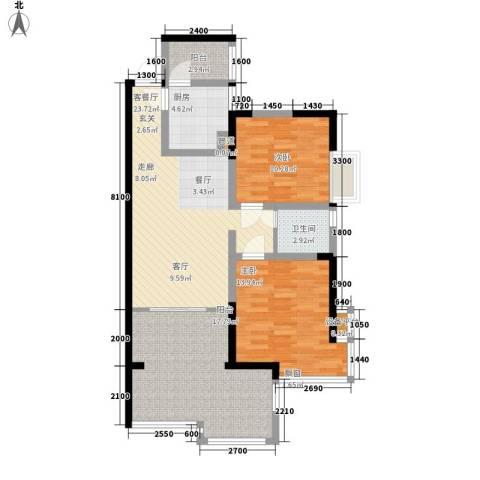 维多利亚别墅2室1厅1卫1厨111.00㎡户型图