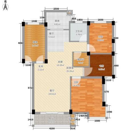 山水人家3室0厅1卫1厨104.00㎡户型图
