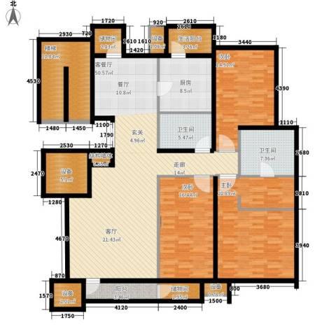 芙蓉新天地3室1厅2卫1厨225.00㎡户型图