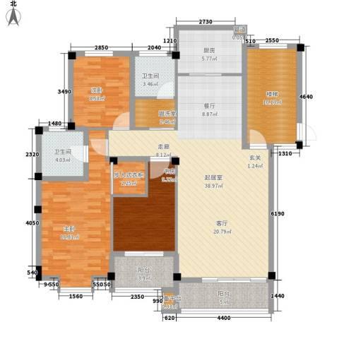 山水人家3室0厅2卫1厨127.00㎡户型图