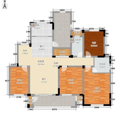 新城忆华里4室0厅2卫1厨158.00㎡户型图