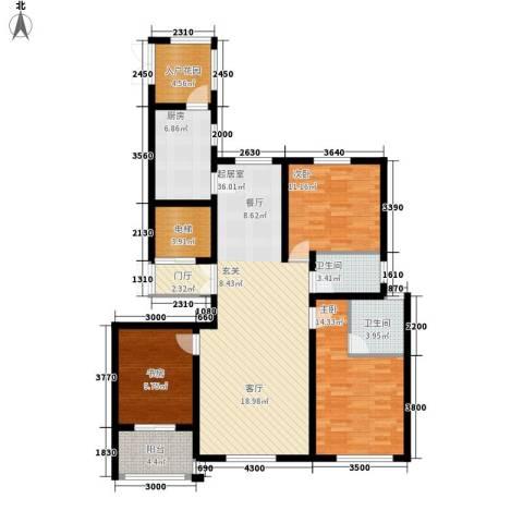 东湖印象3室0厅2卫1厨145.00㎡户型图