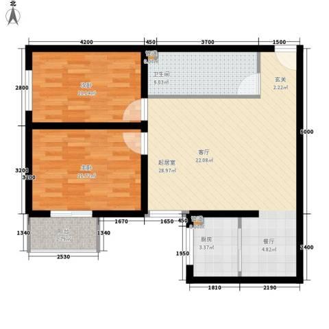 仁和公寓2室0厅1卫1厨90.00㎡户型图