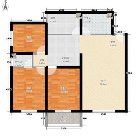 仁和公寓3室0厅2卫1厨126.00㎡户型图