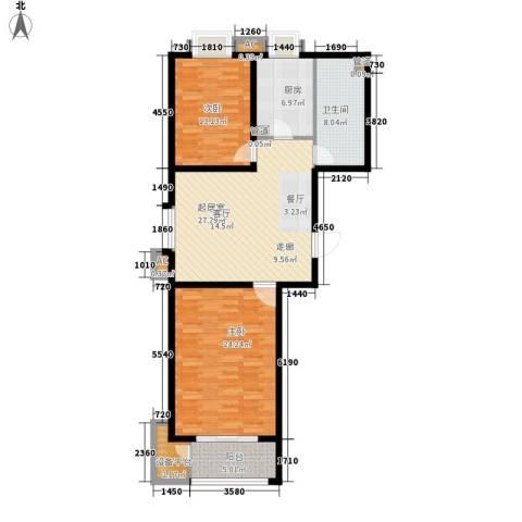 润生园2室0厅1卫1厨99.00㎡户型图