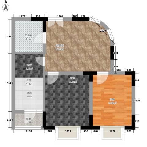 嘉和苑2室0厅1卫1厨59.00㎡户型图