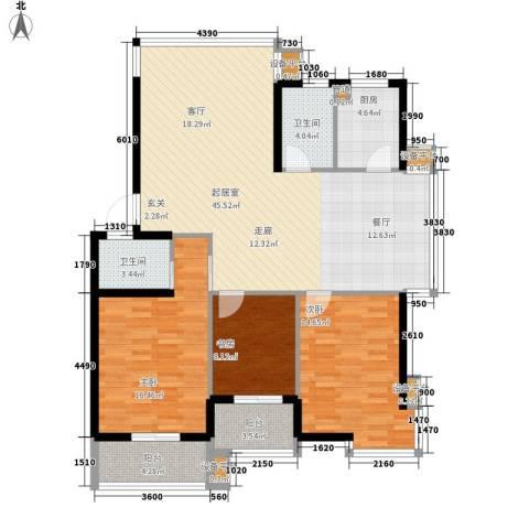 山水人家3室0厅2卫1厨150.00㎡户型图