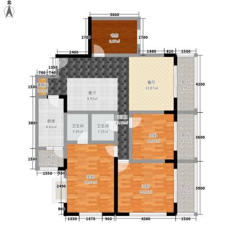 嘉和苑4室0厅2卫1厨128.00㎡户型图