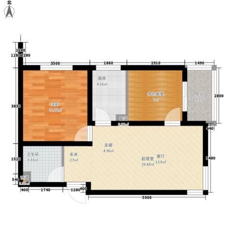 观筑壹号1室0厅1卫1厨74.00㎡户型图